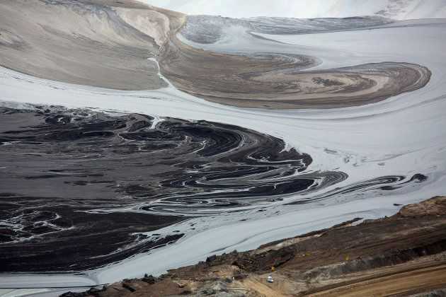 A tailings pond near the Syncrude tar sands operations near Fort McMurray, Alberta, September 17, 2014....