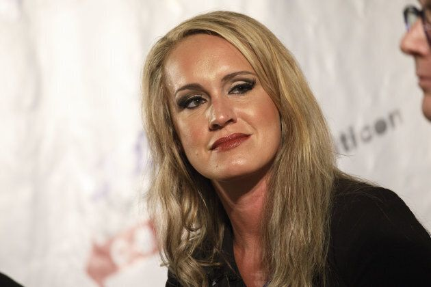 Political commentator Scottie Nell Hughes at the Politicon convention in the Pasadena Convention Center...