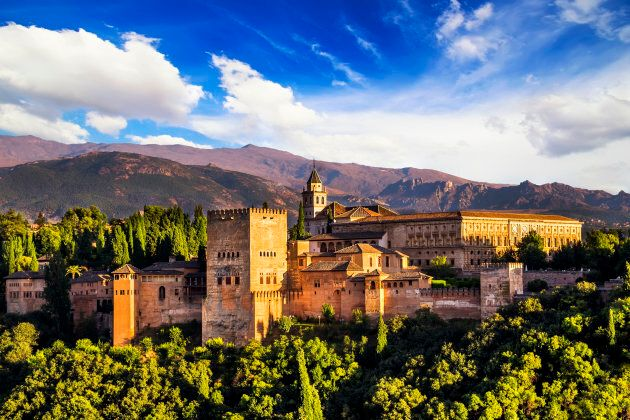 Ancient Arabic fortress of Alhambra, Granada,