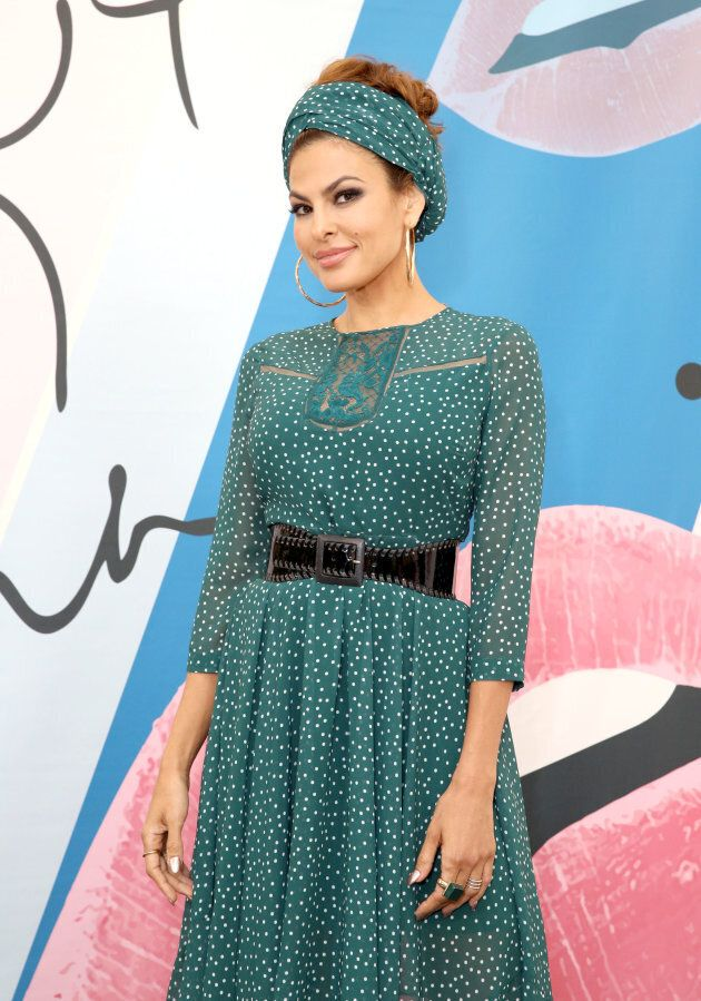 Eva Mendes launches her fall collection with new extended sizes at New York & Company on September 14, 2017 in Cerritos, California.