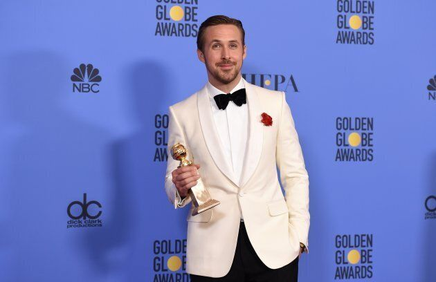 Ryan Gosling at the 2017 Golden Globes.