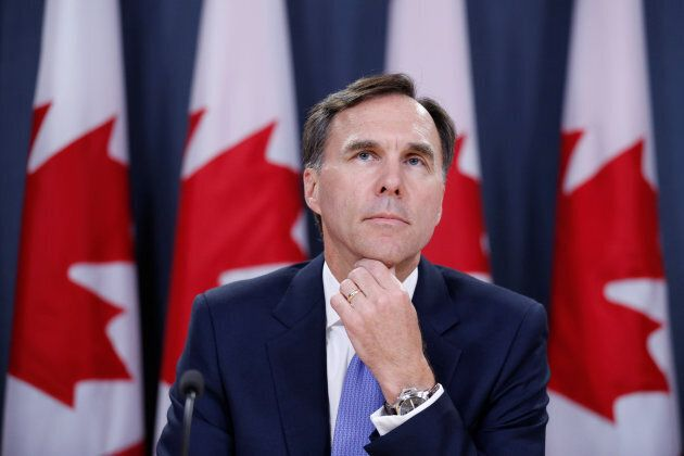 Finance Minister Bill Morneau takes part in a news conference in Ottawa, Ontario, Canada, July 18. Morneau...