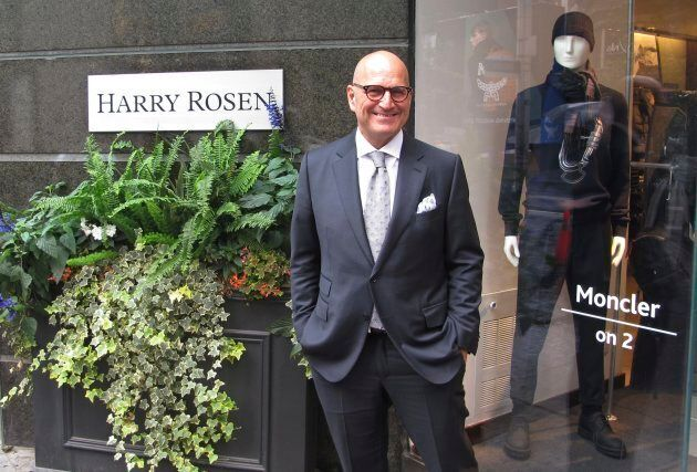 In this Aug. 17, 2017 photo, Larry Rosen, CEO of Harry Rosen, poses at one of his high end menswear stores...