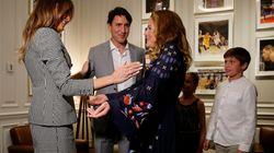 Justin Trudeau And Family Meet Melania Trump Before Invictus