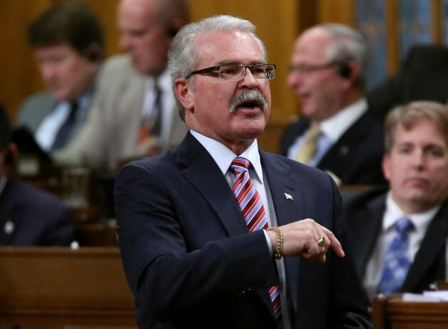 Conservative MP and former Agriculture Minister Gerry Ritz speaks during Question Period in the House...
