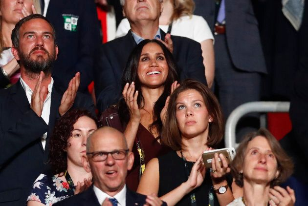 Meghan Markle applauds during the opening ceremony for the Invictus Games in Toronto, September 23, 2017. (REUTERS/Mark Blinch)