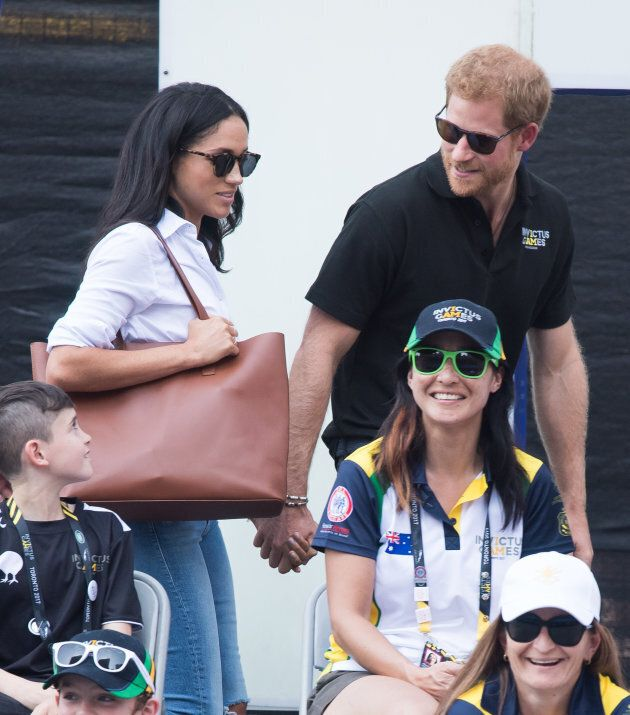 Meghan Markle and Prince Harry appear together at the wheelchair tennis on day 3 of the Invictus Games...