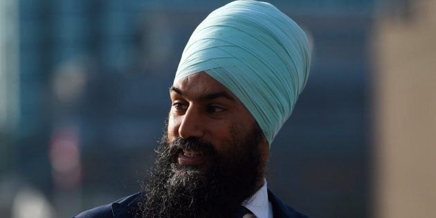 NDP leadership candidate Jagmeet Singh makes his way to the centre block of Parliament Hill in Ottawa...