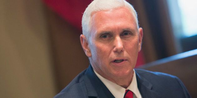 U.S. Vice President Mike Pence speaks to the media at the White House on Sept. 7, 2017 in Washington,