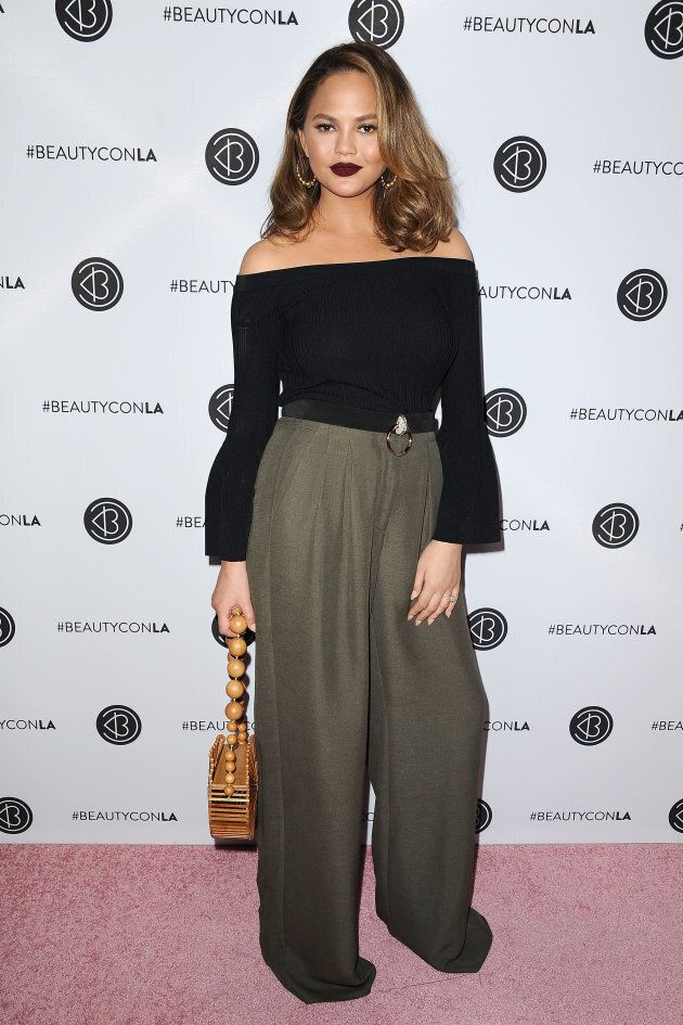 Chrissy Teigen at the 5th annual Beautycon festival at Los Angeles Convention Center in