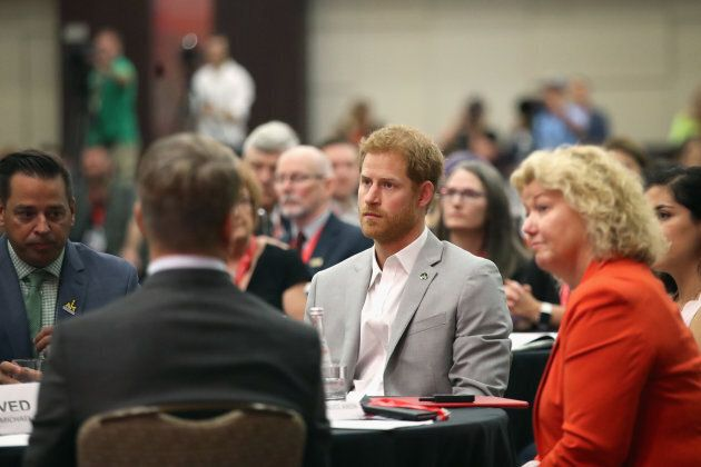 Prince Harry attends the CIMVHR Conference during the Invictus Games 2017 on Sept. 25, 2017 in Toronto,...