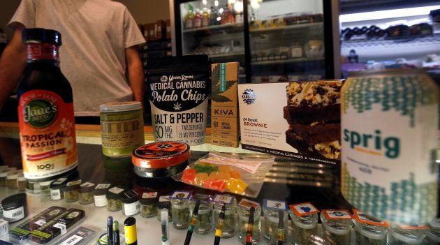 A variety of marijuana edibles at the Los Angeles Patients & Caregivers Group medicinal marijuana dispensary...