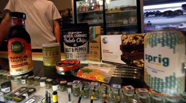 A variety of marijuana edibles at the Los Angeles Patients & Caregivers Group medicinal marijuana dispensary in West Hollywood, Calif., Oct. 18, 2016. Nearly half of Canadians said in a recent poll they would try marijuana edibles once they're legal.