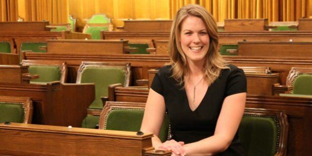 Conservative MP Rachael Harder is shown in the House of