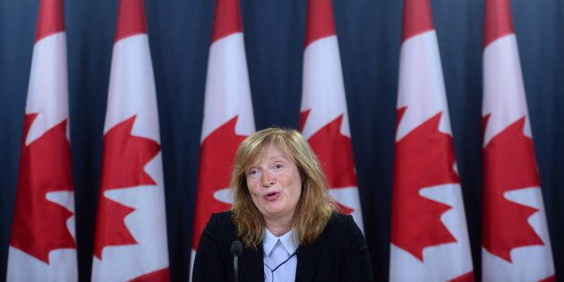 Suzanne Legault, Information Commissioner of Canada, holds a press conference the the National Press...