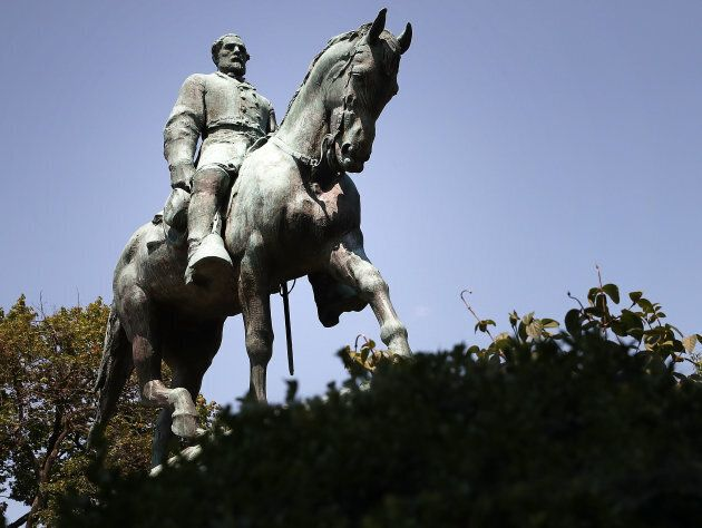 The statue of Confederate Gen. Robert E. Lee stands in the centre of the renamed Emancipation Park on...