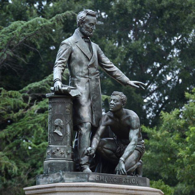 The Emancipation Monument in Lincoln Park in Washington,