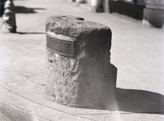 The slave block in Fredericksburg, Va.