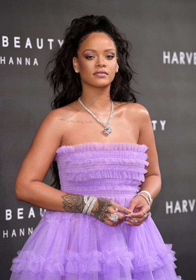 Rihanna attends the 'FENTY Beauty' by Rihanna launch Party at Harvey Nichols Knightsbridge on September...