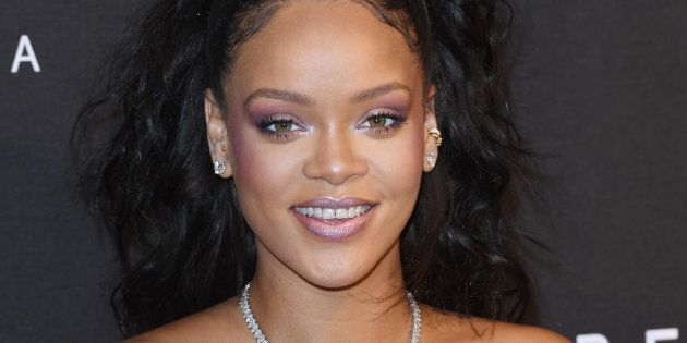 Rihanna attends the 'FENTY Beauty' by Rihanna launch at Harvey Nichols Knightsbridge on September 19,...