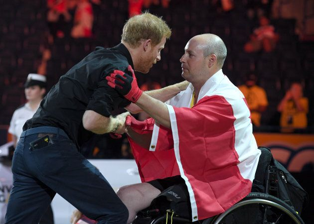 Prince Harry attends the Rowing at the Invictus Games Toronto 2017 at the Mattamy Athletic Centre on...