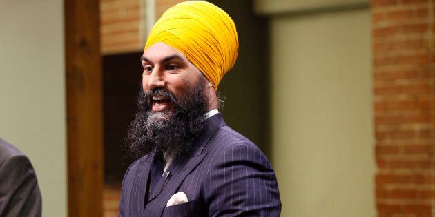 NDP leadership candidate Jagmeet Singh speaks during a debate hosted by HuffPost Canada in Toronto on...