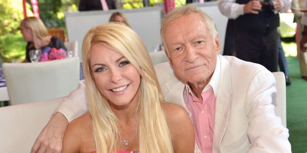 Crystal Harris and Hugh Hefner at Playboy's 2013 Playmate Of The Year luncheon in Holmby Hills, California.