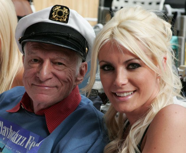 Hugh Hefner and Crystal Harris attend the 31st annual Playboy Jazz Festival at the Hollywood Bowl on...