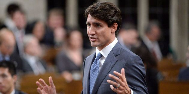 Prime Minister Justin Trudeau rises during question period in the House of Commons on Sept.28,