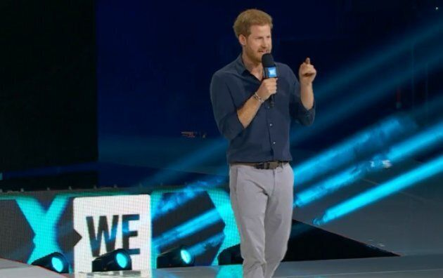 Prince Harry talks about the Invictus Games at We Day Toronto.