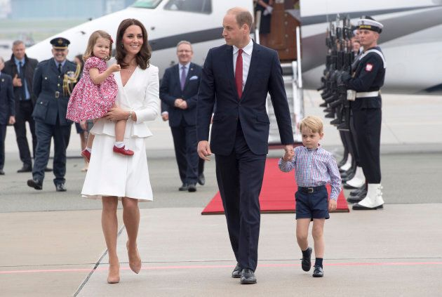 The Duke and Duchess of Cambridge with their children on their five-day tour of Poland and