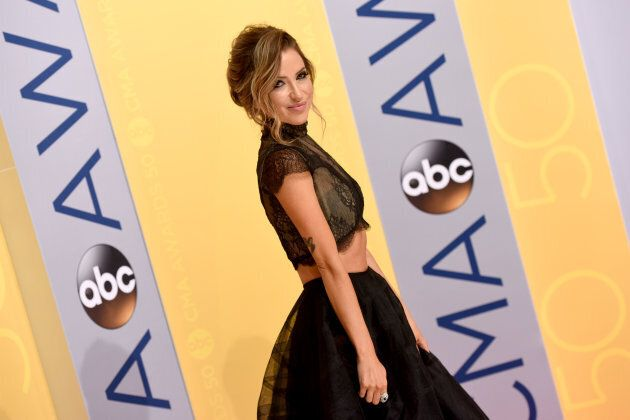 TV personality Kaitlyn Bristowe attends the 50th annual CMA Awards at the Bridgestone Arena on Nov. 2,...