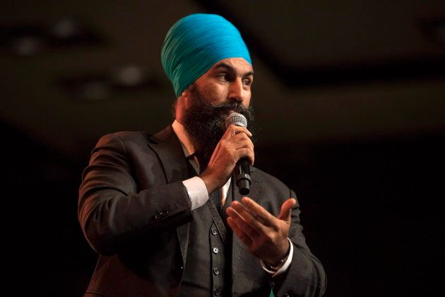 Leadership contender Jagmeet Singh speaks at the NDP's Leadership Showcase in Hamilton, Ont. on Sept....