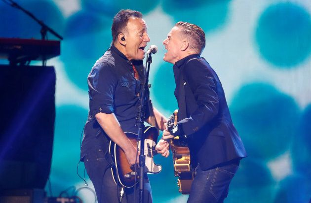 Bruce Springsteen and Bryan Adams perform during the Invictus Games closing ceremony.