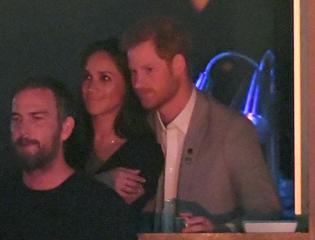 Meghan Markle and Prince Harry are seen at the Closing Ceremony of the Invictus Games Toronto 2017 at...