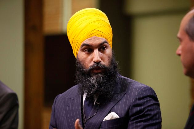 Jagmeet Singh speaks during HuffPost Canada's NDP leadership debate on