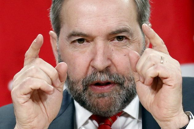 Former NDP leader Thomas Mulcair at a news conference in Ottawa on January 18,