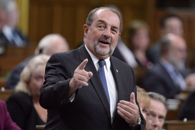 Conservative MP Denis Lebel asks a question during Question Period in the House of Commons on Oct.3,