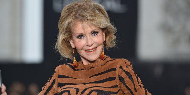 Jane Fonda at the rehearsal before Le Defile L'Oreal Paris as part of Paris Fashion Week Womenswear Spring/Summer...
