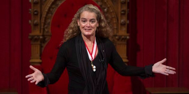 Julie Payette makes her first speech as Canada's 29th Governor General from her seat in the Senate chamber...