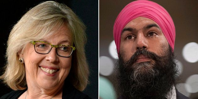 Green Party Leader Elizabeth May congratulated Jagmeet Singh on winning the NDP leadership race. She...