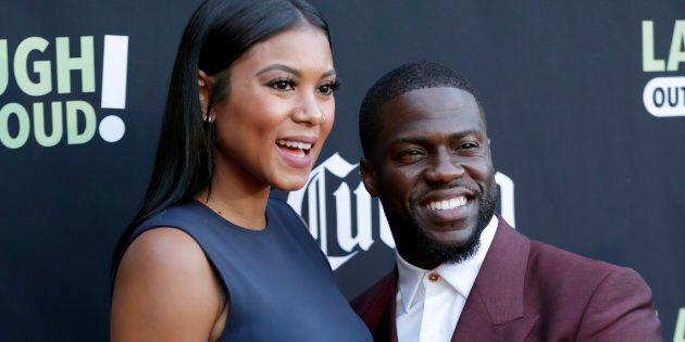 Kevin Hart and Eniko Parrish attends Launch Of Laugh Out Loud hosted by Kevin Hart And Jon Feltheimer...