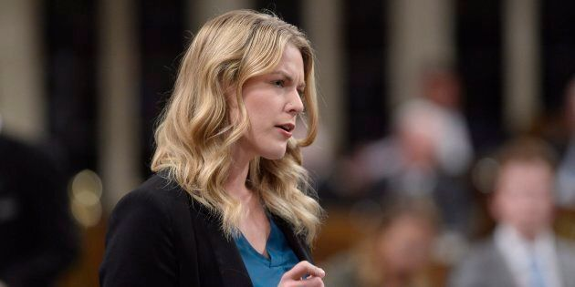 Conservative MP Rachael Harder rises during question period in the House of Commons on Sept.27, 2017.