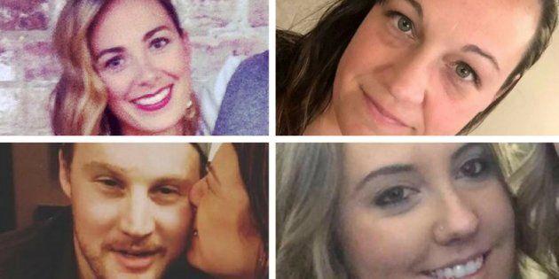 Four Canadians — clockwise from top right: Tara Roe Smith, Jessica Klymchuk, Calla Medig, and Jordan...