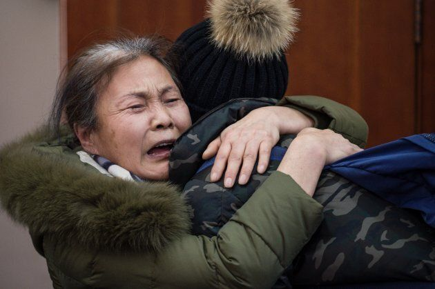Relatives of missing Chinese passengers aboard Malaysia Airlines Flight 370 that disappeared on March...