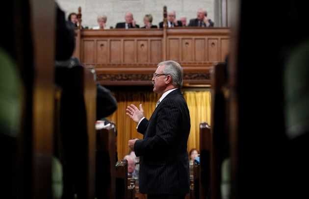 Canada's agriculture minister at the time, Gerry Ritz speaks during Question Period in the House of Commons...