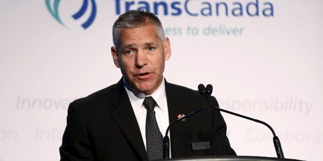 TransCanada CEO Russ Girling at the company's annual general meeting in Calgary, Alta., May 1, 2015....