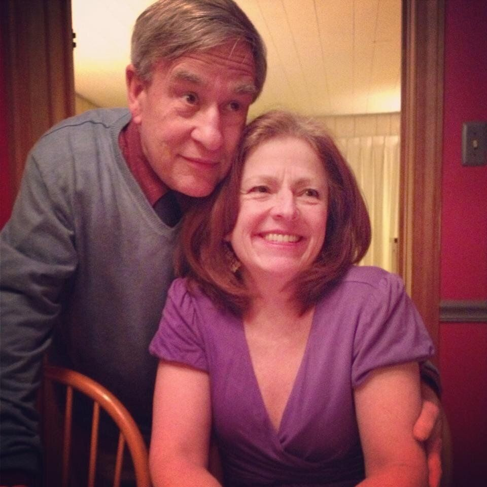The author and her husband