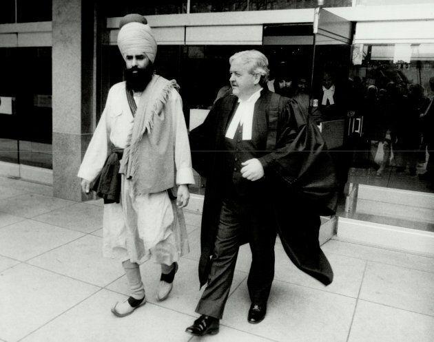 Talwinder Singh Parmar, left.