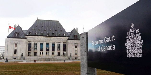 The Supreme Court of Canada in Ottawa is shown on April 14,
